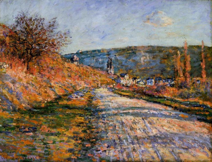 Claude-Monet-The-Road-to-Vetheuil