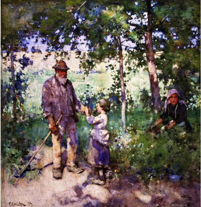 Edward-Arthur-Walton-Grandfather's-Garden