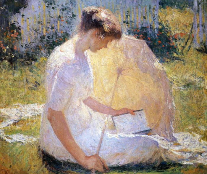 Frank-Weston-Benson-The-Reader