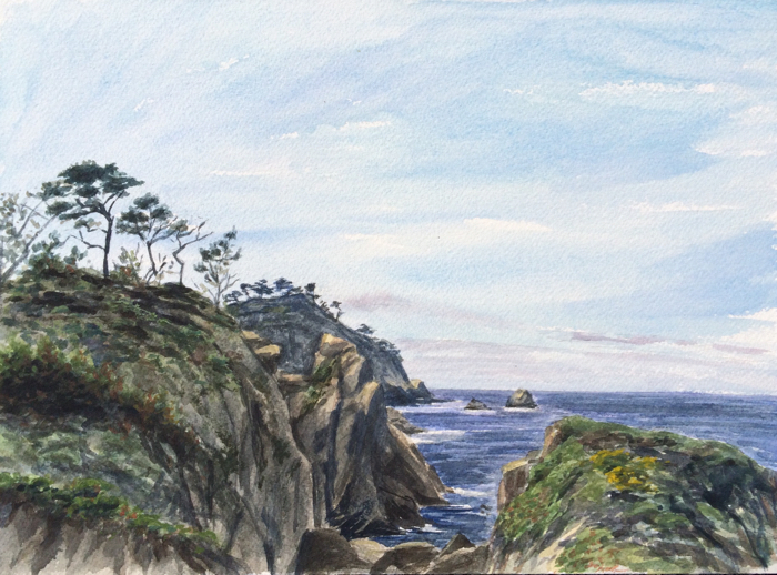 Point Lobos. Watercolor.