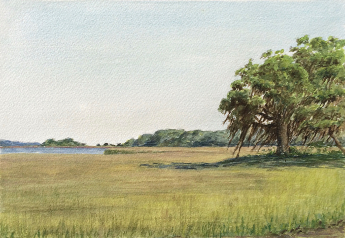 By the Toogoodoo River. 7 x 10 in, Watercolor.