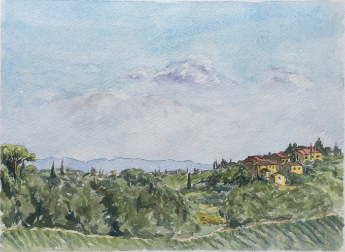 Noce from la Torricella. 20 x 27 cm, Watercolor.