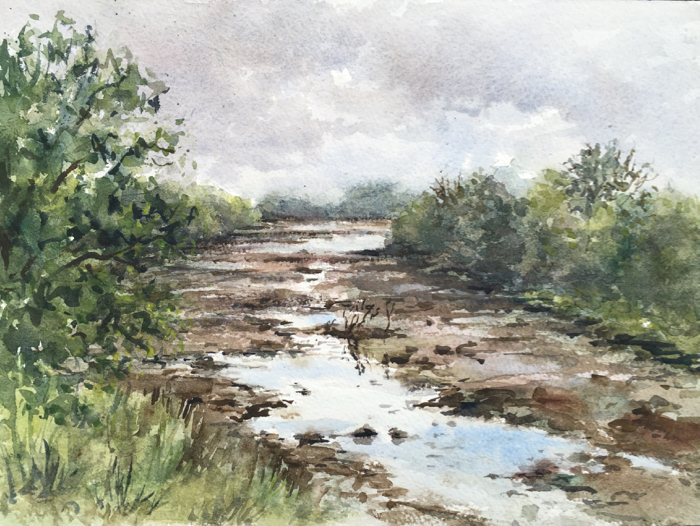 Tintern Stream, Watercolor.