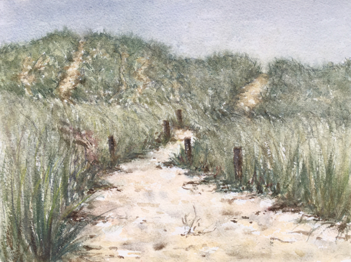 Curracloe Dunes, Watercolor