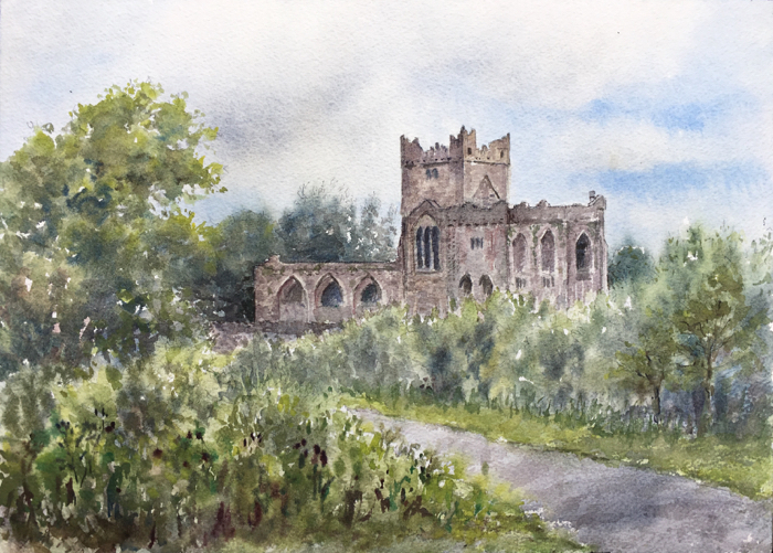 Tintern Abbey, Watercolor.