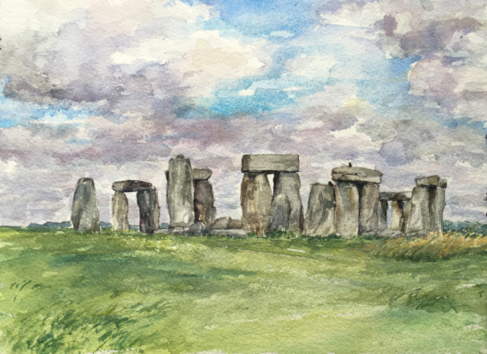 Stonehenge, Watercolor.