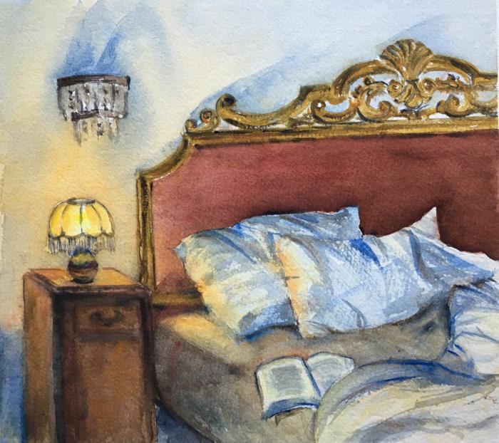 Sunday. 22 x 25 cm, Watercolor.