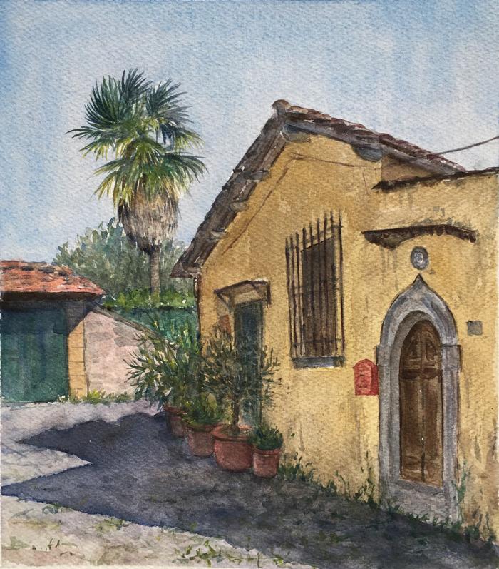Chiesa di San Lorenzo. 22 x 25 cm, Watercolor.