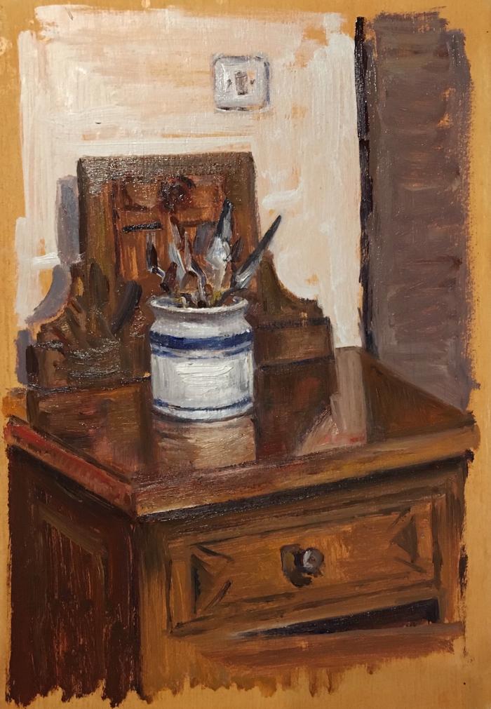 Palette Knives. 20 x 30 cm, Oil on Panel.