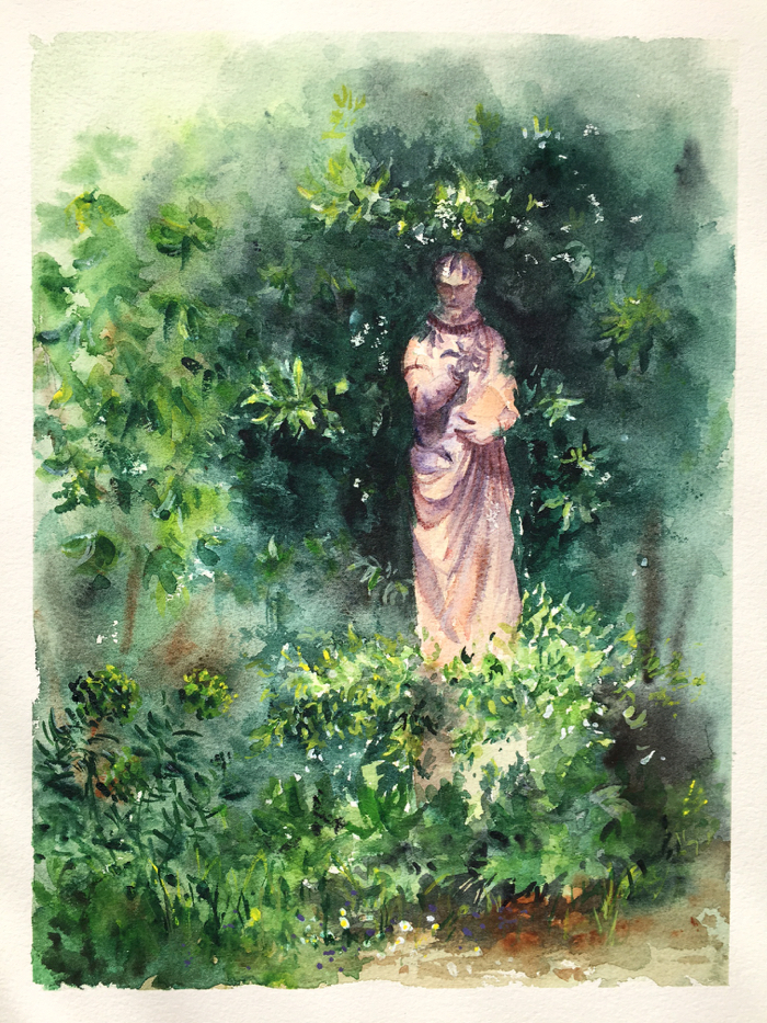 Garden Detail. Watercolor.